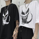 MONSTER FACE PRINTED EDGY EGIRL TEE-Cosmique Studio-Aesthetic-Egirl-Grunge-Clothing
