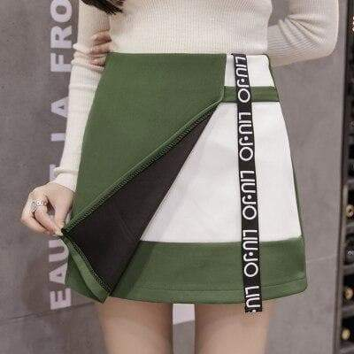 NEW COLLEGE CASUAL HIGH WAIST SKIRT-Cosmique Studio