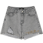NEW STYLISH RIPPED SKINNY HIGH WAIST SHORT-Cosmique Studio