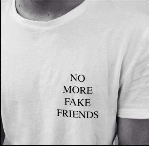 NO MORE FAKE FRIENDS TEE-Cosmique Studio
