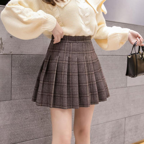OFFICE GIRL PLEATED MINI SKIRT - Cosmique Studio