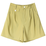 OFFICE STYLE CASUAL WIDE LEG SHORTS-Cosmique Studio