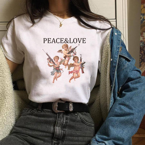PEACE & LOVE TEE-Cosmique Studio
