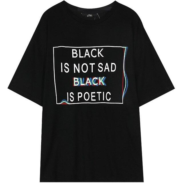 POETIC BLACK TEE - Cosmique Studio
