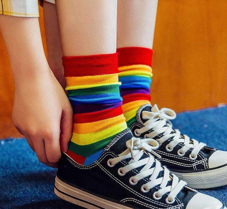 RAINBOW CUTE SOCKS-Cosmique Studio
