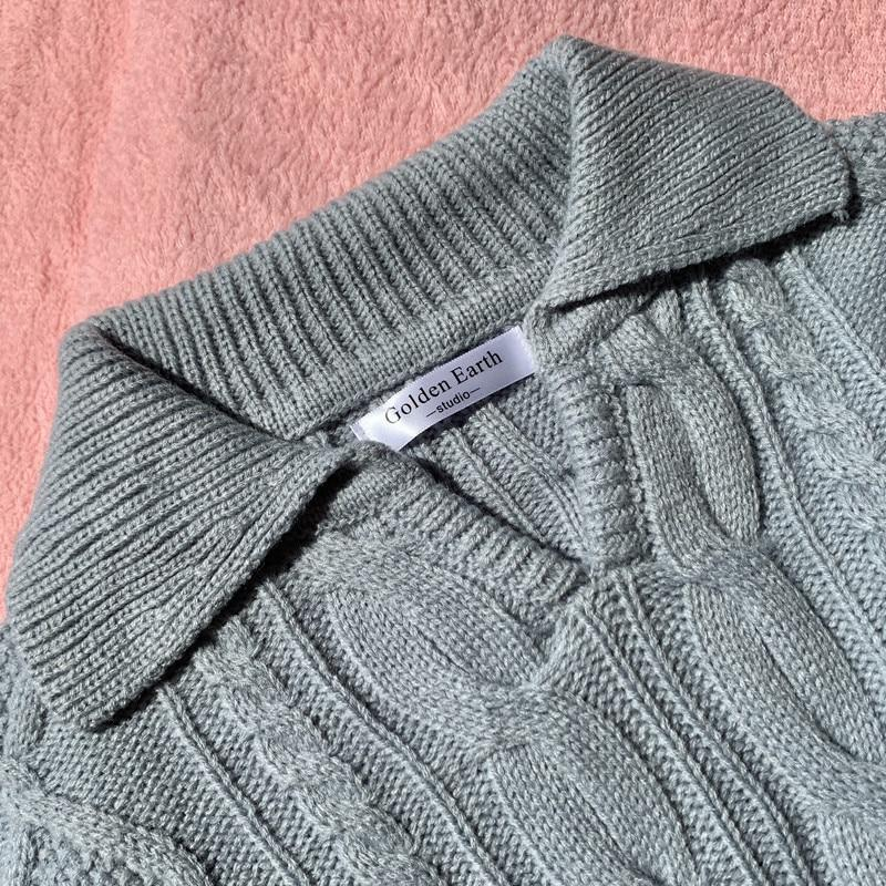 RETRO KNITTED WARM SWEATER - Cosmique Studio - Aesthetic Outfits