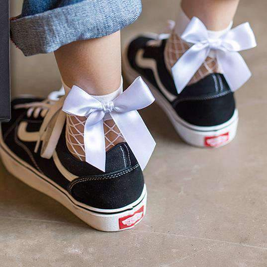 RIBBON ANKLE SOCKS-Cosmique Studio