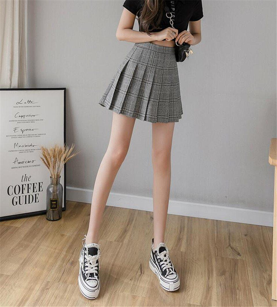 SCHOOL GIRL PLEATED MINI SKIRT - Cosmique Studio