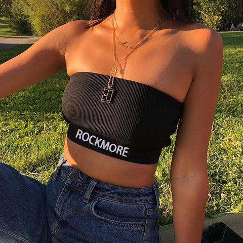 SEXY BLACK SLEEVELESS STRAPPY KNITTED CROP TOP-Cosmique Studio