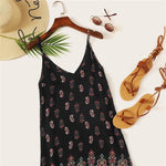 SEXY BLACK TRIBAL MINI SUMMER BOHO DRESS-Cosmique Studio