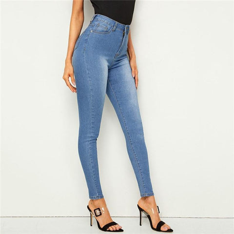 SEXY CASUAL SKINNY JEANS-aesthetic-clothing-cosmiquestudio.com