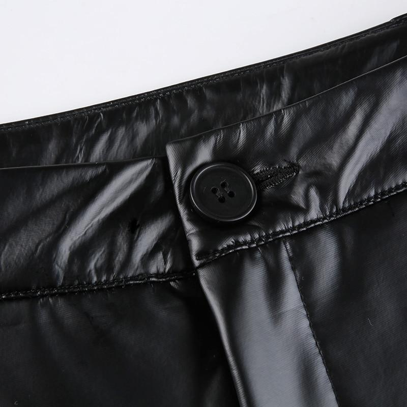 SEXY EGIRL PU LEATHER PANTS - Cosmique Studio - Aesthetic Outfits