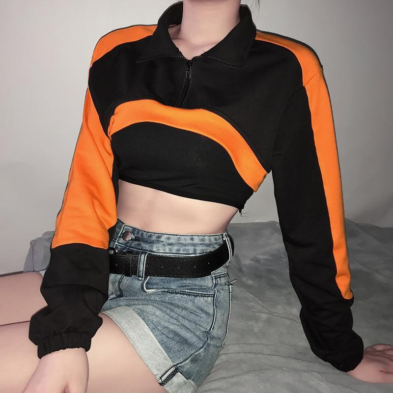 SEXY EGIRL SWEATSHIRT CROP TOP - Cosmique Studio