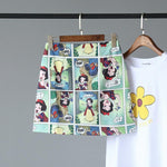SNOW WHITE PRINTED MINI SKIRT - Cosmique Studio