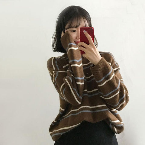 SOFT AUTUMN KNITTED SWEATER-Cosmique Studio-Aesthetic Clothing Store