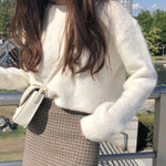 SOFT ELEGANT KNITTED SWEATER-Cosmique Studio-Aesthetic-Outfits