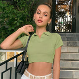 SOFT GIRL GREEN KNITTED CROP TOP-Cosmique Studio-Aesthetic Clothing Store
