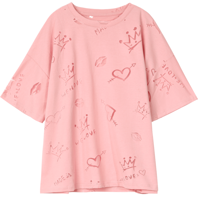 SOFT GIRL LOOSE TEE-Cosmique Studio-Aesthetic Clothing Store