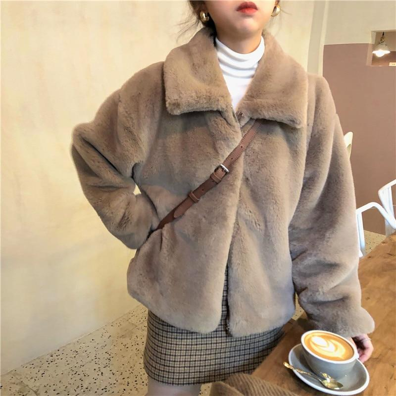 SOFT GIRL THICK FAUX FUR COAT