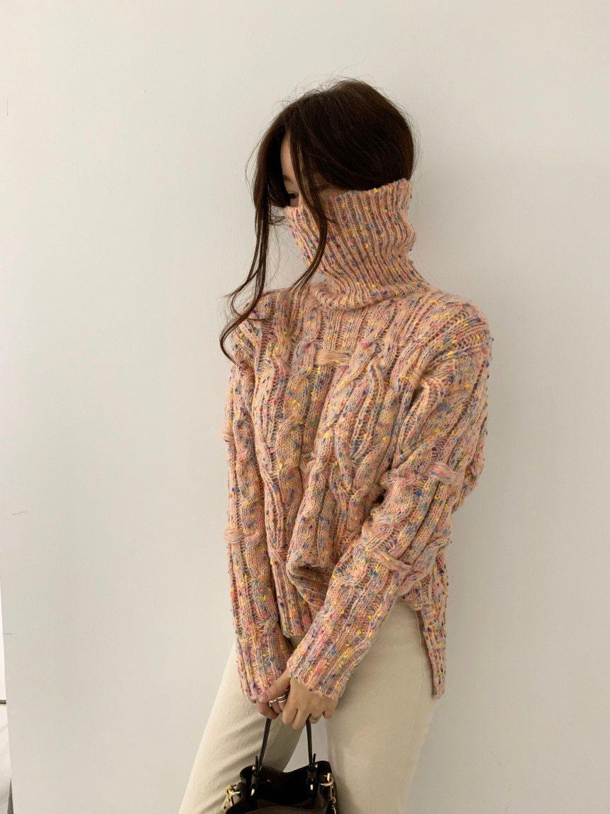 SOFT GIRL TURTLENECK SWEATER - Cosmique Studio - Aesthetic Outfits