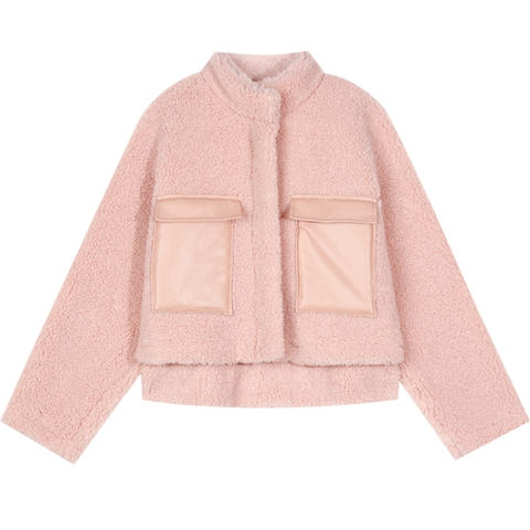 SOFT GIRL WINTER WOOL TEDDY JACKET-Cosmique Studio-aesthetic-clothing-store