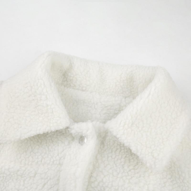SOFT GIRL WOOL TEDDY CROPPED JACKET - Cosmique Studio - Aesthetic Outfits