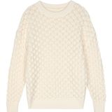 SOFT PUFFY AUTUMN KNITTED SWEATER-Cosmique Studio-aesthetic-clothing-store