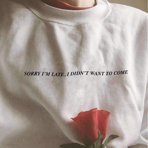SORRY I'M LATE, I DIDN'T WANT TO COME TEE-Cosmique Studio