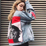 SPLICE CLOWN DENIM JACKET-Cosmique Studio