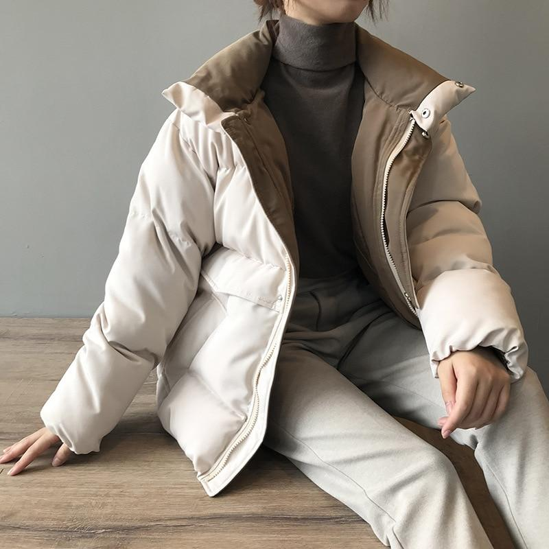STREETWEAR ZIPPER PUFFER COAT - Cosmique Studio - Aesthetic Outfits