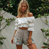 SUMMER FLORAL MINI SHORTS-Cosmique Studio-aesthetic-clothing-store