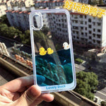 SWIMMING DUCK PHONE CASE-Cosmique Studio