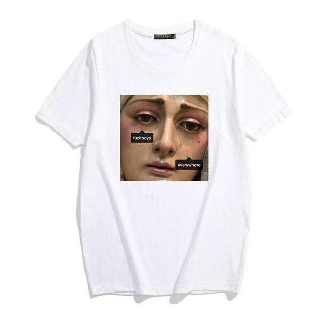 THE VIRGIN MOTHER SHED TEARS TEE-Cosmique Studio