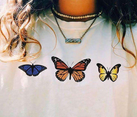 THREE BUTTERFLIES TEE-Cosmique Studio
