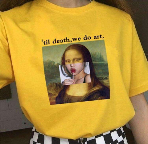 TIL DEATH WE DO ART TEE-Cosmique Studio