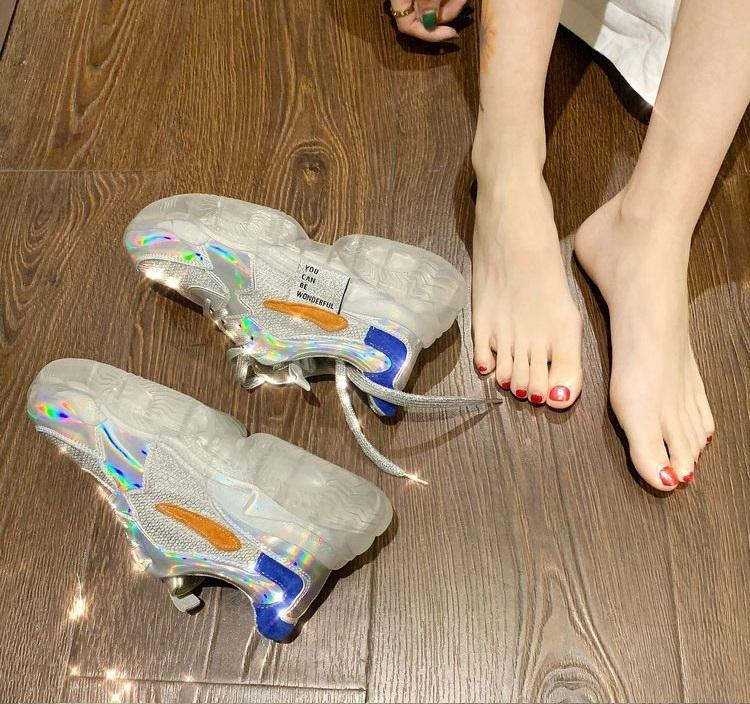 TRANSPARENT CHUNKY SNEAKERS-Cosmique Studio