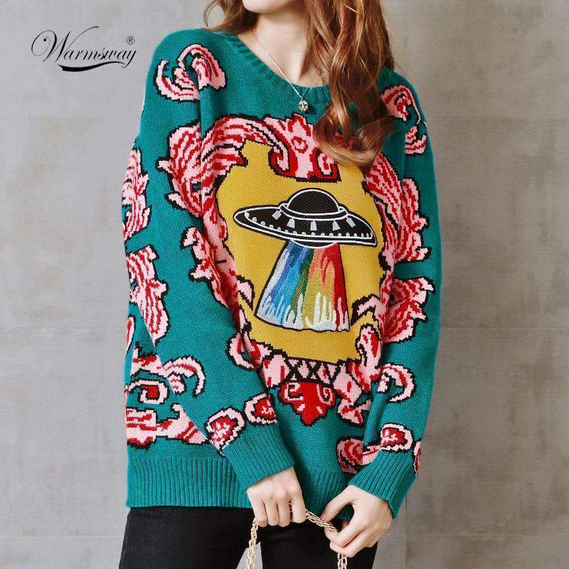 UFO CLOUDS AUTUMN SWEATER-Cosmique Studio
