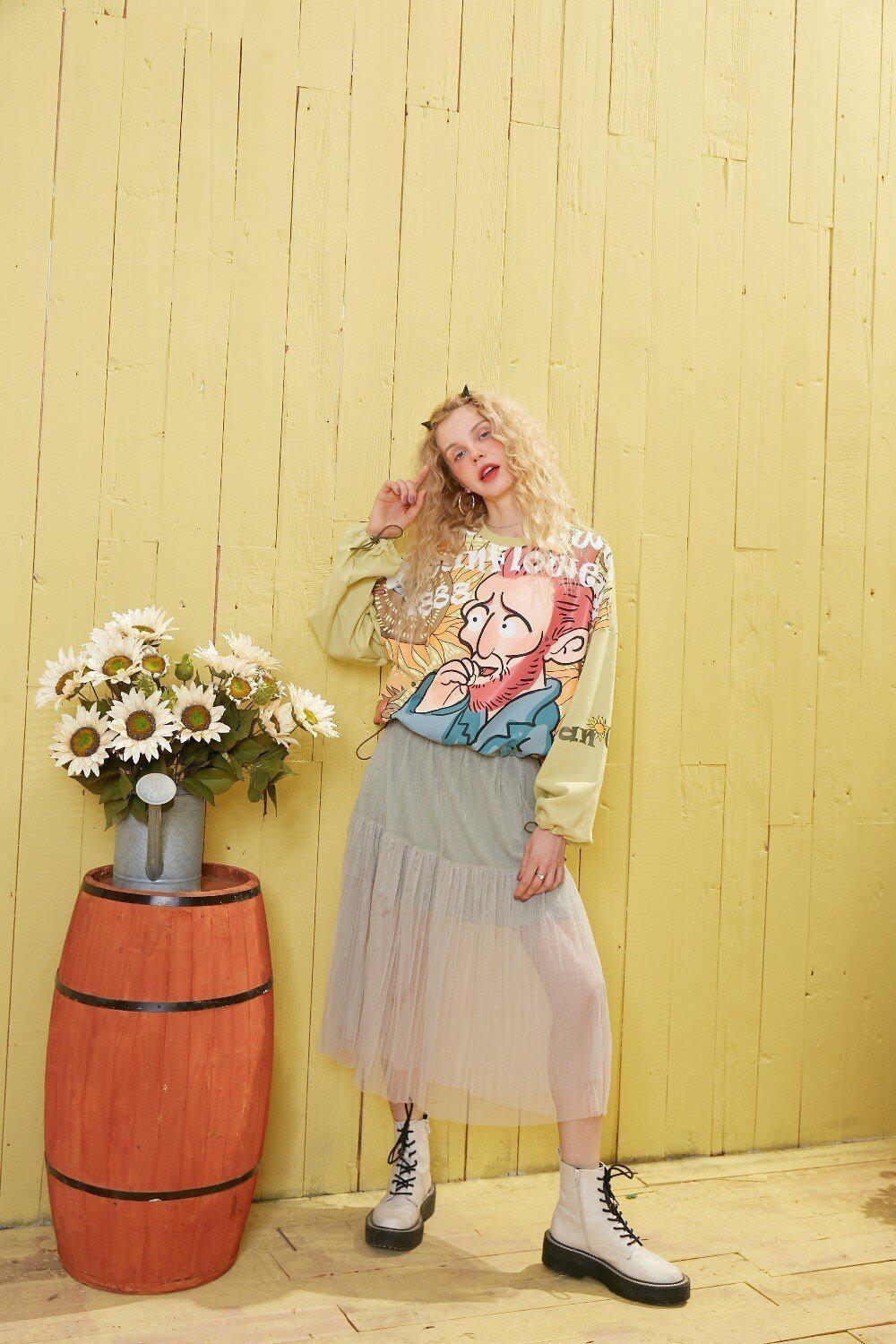 VAN GOGH GRAPHIC SWEATSHIRT - Cosmique Studio