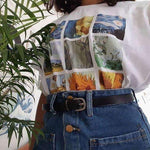 VAN GOGH PAINTINGS GRID TEE-Cosmique Studio