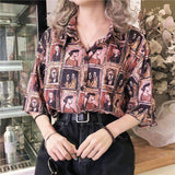 VINTAGE CHARACTER PRINTED SHIRT-Cosmique Studio