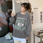 VINTAGE COLLEGE STYLE SWEATSHIRT-Cosmique Studio-aesthetic-clothing-store