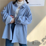 VINTAGE CORDUROY AESTHETIC GIRL SHIRT-Cosmique Studio-Aesthetic Clothing Store