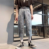 VINTAGE DENIM HIGH WAIST PANTS-Cosmique Studio
