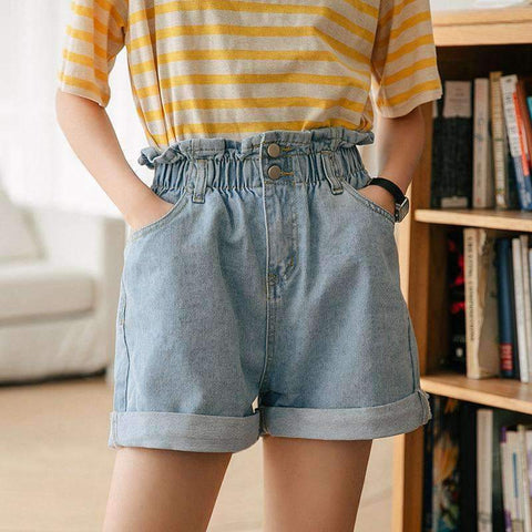 VINTAGE DENIM SHORT-Cosmique Studio