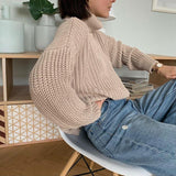VINTAGE ELEGANT SOFT OVERSIZED SWEATER-Cosmique Studio-Aesthetic-Outfits
