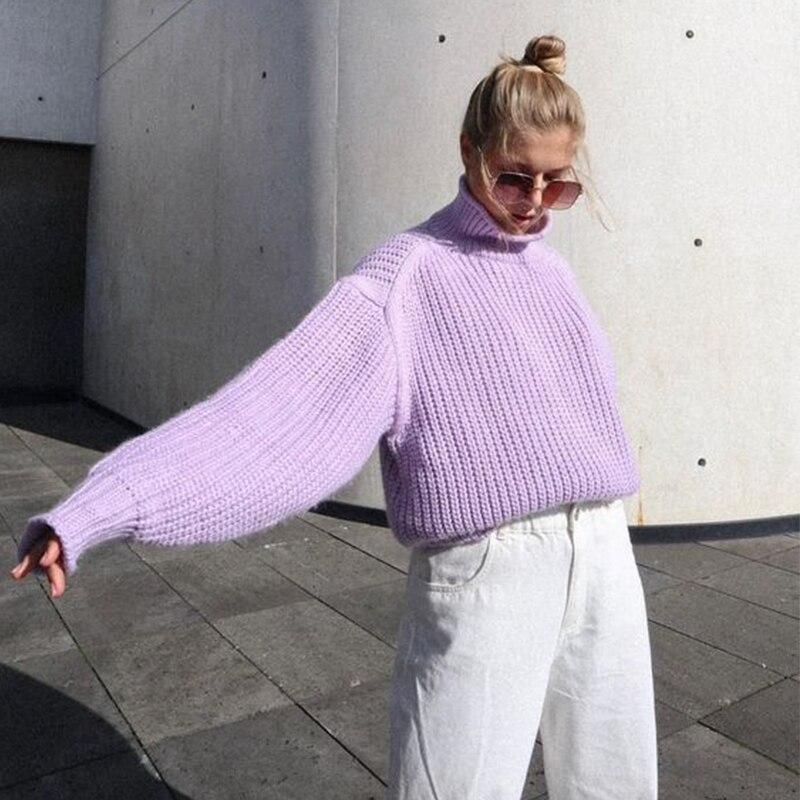 VINTAGE KNITTED TURTLENECK SWEATER - Cosmique Studio - Aesthetic Outfits