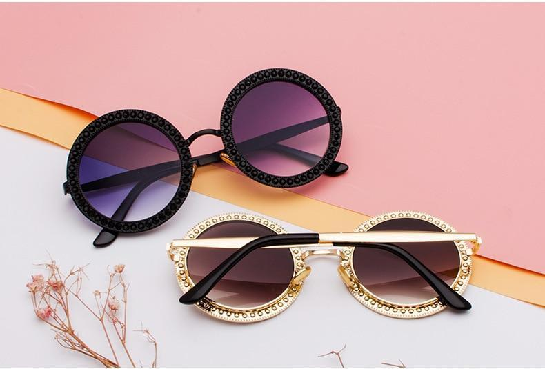 VINTAGE LUXURY ROUND SUNGLASSES - Cosmique Studio