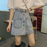 VINTAGE POCKETS DENIM SKIRT - Cosmique Studio