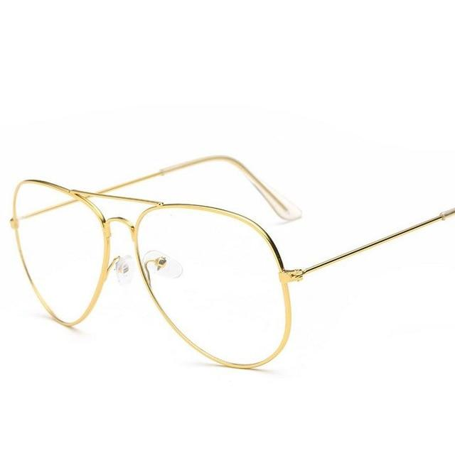 Vintage Retro Classic Round Clear Oversized glasses - Cosmique Studio