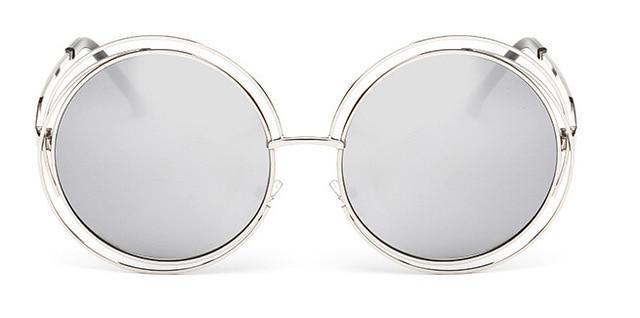 VINTAGE ROUND BIG SIZE OVERSIZED SUNGLASSES - Cosmique Studio